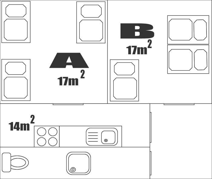 Půdorys apartmánu č. 1