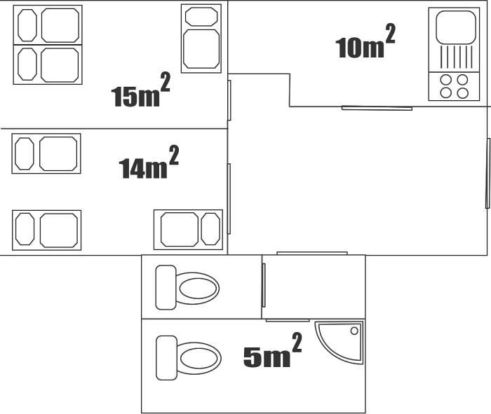 Půdorys apartmánu č. 2